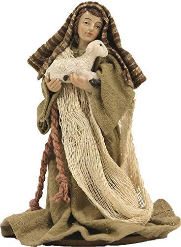 Dekop Krippenfiguren, Hirte mit Schaf orientalisch, Ankleidefiguren, geeignet für 10cm Figuren (444635095999)