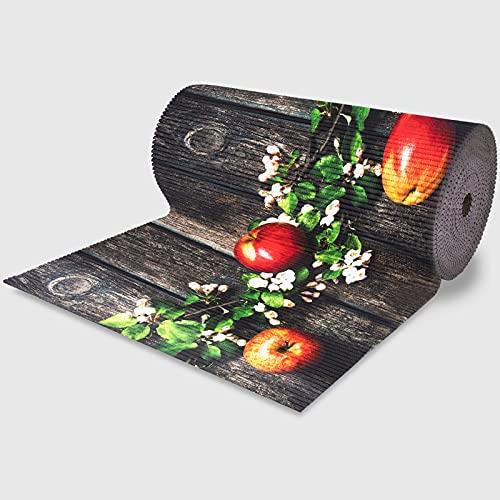 La Briantina Passatoia Ritagliabile 18 Metri con Fantasia Mele, Tappeto Rotolo per Cucina Ingresso e Salotto, 52 cm x 18 Metri