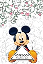 """Notebook Journal Dot-Grid, Graph, Lined, Blank No Lined: Micky Mouse VoL.4: Small Pocket Notebook Journal Diary, 120 pages, 6"""" x 9"""" (Blank Notebook Journal)"""