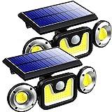 Luces solares al aire libre, luces de seguridad con sensor de...