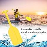 Junean Pagaia telescopica per barca, Pagaia per kayak, Remo telescopico multiuso per barca...
