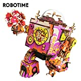 Robotime 立体パズル 木製パズル 音楽ボックス DIYオルゴール クラフト プレゼント おもちゃ オモチャ 知育玩具 男の子 女の子 大人 入園祝い 新年 ギフト 誕生日 クリスマス プレゼント 贈り物(多彩なロボット)