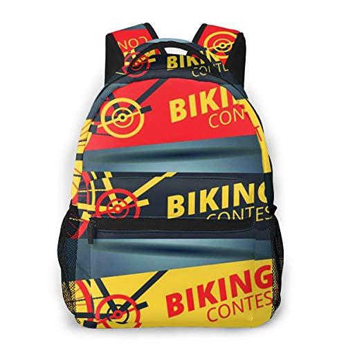 Rucksack Männer und Damen, Laptop Rucksäcke für 14 Zoll Notebook, Wettbewerb Radfahren Radfahren Rennrad Kinderrucksack Schulrucksack Daypack für Herren Frauen