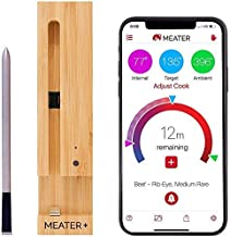 MEATER Plus   De Slimme Draadloze Vleesthermometer Met 50m Lang Bereik Voor De Oven, Gril, Keuken, Barbecue, Rookoven en/o...