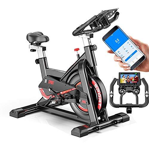 YOVYO Indoor Cycling Exercise Bike Advanced Home Trainer Spin Bike, Smartphone App, 11kg Flywheel, Adjustable Handlebars And Seat, Infinite Resistance