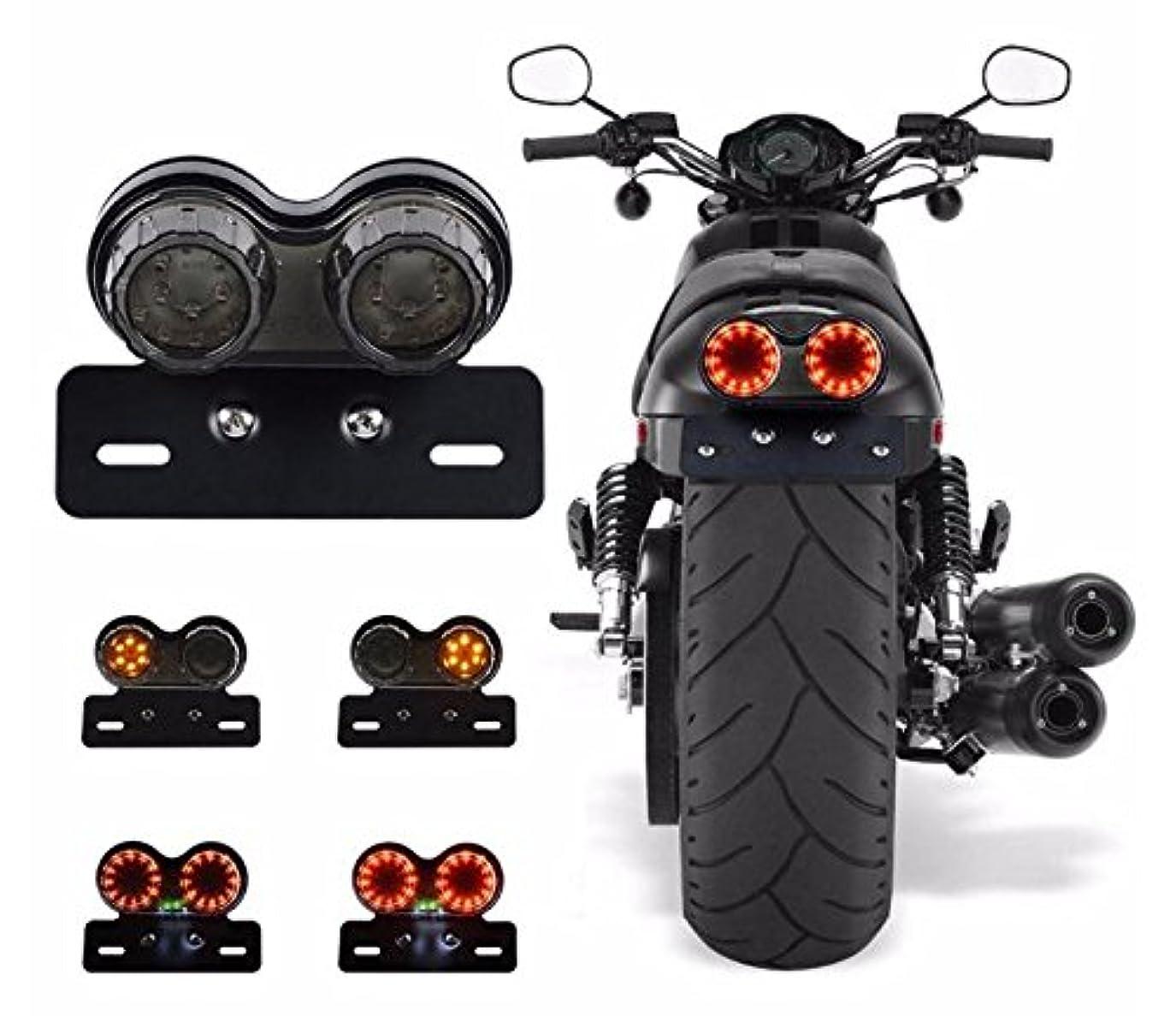 自伝リー夕方[SP] バイク テールランプ テールライト ライト テール led 2灯 エイプ ズーマー オールインワン 丸型 汎用