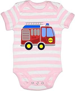 HARIZ Body para bebé con diseño de coches de policía y bomberos, incluye tarjeta de regalo