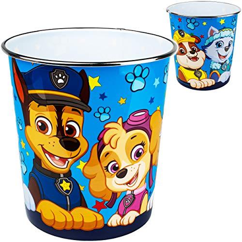 alles-meine.de GmbH Papierkorb / Behälter - Paw Patrol - Hunde - aus Kunststoff / Plastik - Mülleimer Eimer / Aufbewahrungsbox & Spielzeugkorb / Popcornschüssel - auch als Blumen..