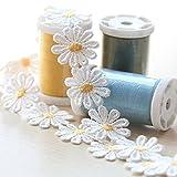 milong 5yardas cinta de flores bordado Tela de Encaje Bordado Applique costura Craft vestido de boda adornos ropa decoración DIY
