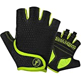MOREOK Gel Road Cycling Gloves Bike Gloves- for Cycling,Riding,Running,Outdoor Sports-for Men/Women/Junior Yellow-L