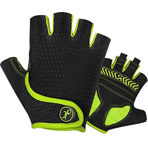 MOREOK Bike Gloves Cycling Gloves with 5MM Gel Pad,Half Finger...