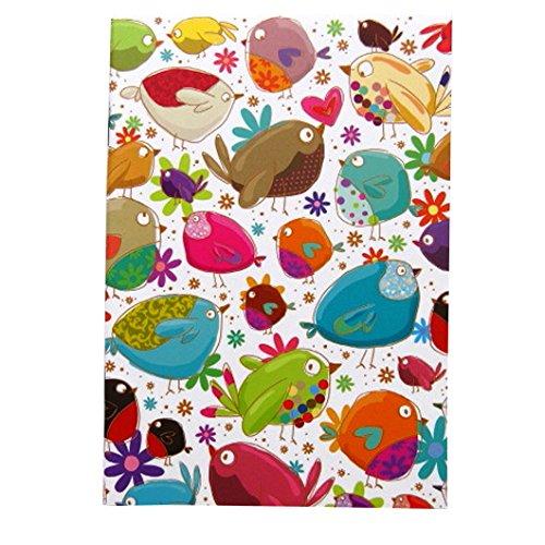 A6 écriture Doodle Cahier - Oiseaux d'amour - 48 pages - par Quire