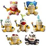 uiuoutoy Super Mario Koopalings Larry Iggy Lemmy Roy Ludwig Wendy Morton Plush Toy Set of 7pcs