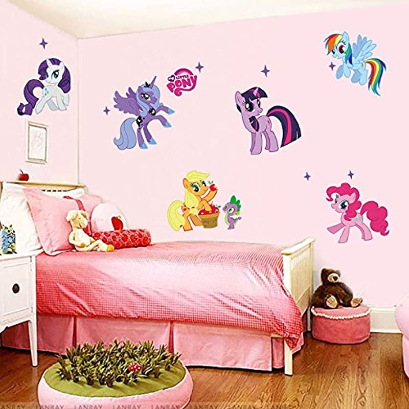 Aranher TM Wall Sticker Hot Cartoon My Little Pony Decals Kids Nursery Decor Removable