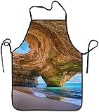 Wistty Delantal de Cocina Cooking con Delantal para la Mejor Playa en Algarve Chief para el hogar, fácil Cuidado para la Cocina, Barbacoa y Parrilla