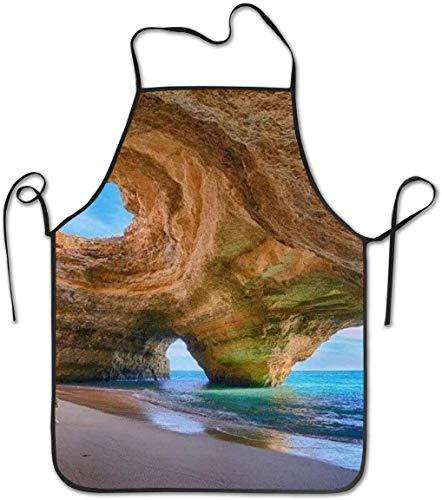 Wistty Kochschürze Küchenschürze Lätzchen Schürzen Best Beach In Algarve Chief Schürze Home Einfache Pflege für Küche, Grill und Grill