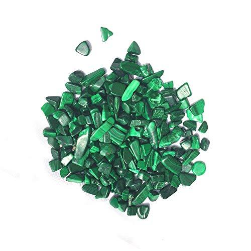 Loriver Heilkristalle - Malachit-Kristallperlen für die Dekoration zu Hause oder im Brunnen, 100 g