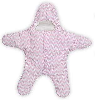 Star Baby Sleeping Bag Sleep Bag Swaddle for 0-2 Year (0-6M, Pink)