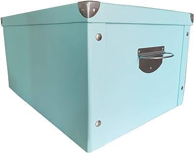 X-super Home Decorative Storage Cardboard Boxes with Lip Sturdy Organizer Gift Boxes for Keepsake Toys Photos Memories Closet
