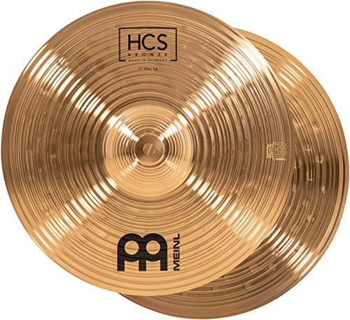 """Meinl Cymbals 13"""" Hihat (Hi Hat) Pair – HCS Traditional Finish Bronze for Drum Set, Made In Germany, 2-YEAR WARRANTY (HCSB13H)"""