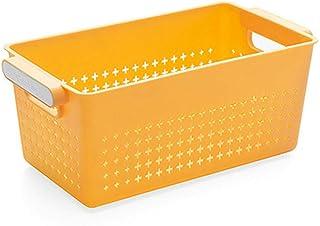 B/H Boîtes de Rangement avec Couvercle et Poignée,Panier de Rangement rectangulaire en Plastique Panier de Rangement de Bu...