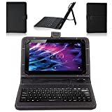 NAUC Tasche Hülle für Medion Lifetab S10321 Schutzhülle Tablet Cover Case Bag, Modellauswahl:Schwarz mit Tastatur