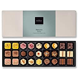 27 filled chocolates inspired by cakes, bakes and puddings Desserts recreated with the flair of a chocolatier, including Caramel Cheesecake, Mousse au Chocolate, Fudge Sundae, Raspberry Pannacotta and more Made according to Hotel Chocolate's mantra: ...