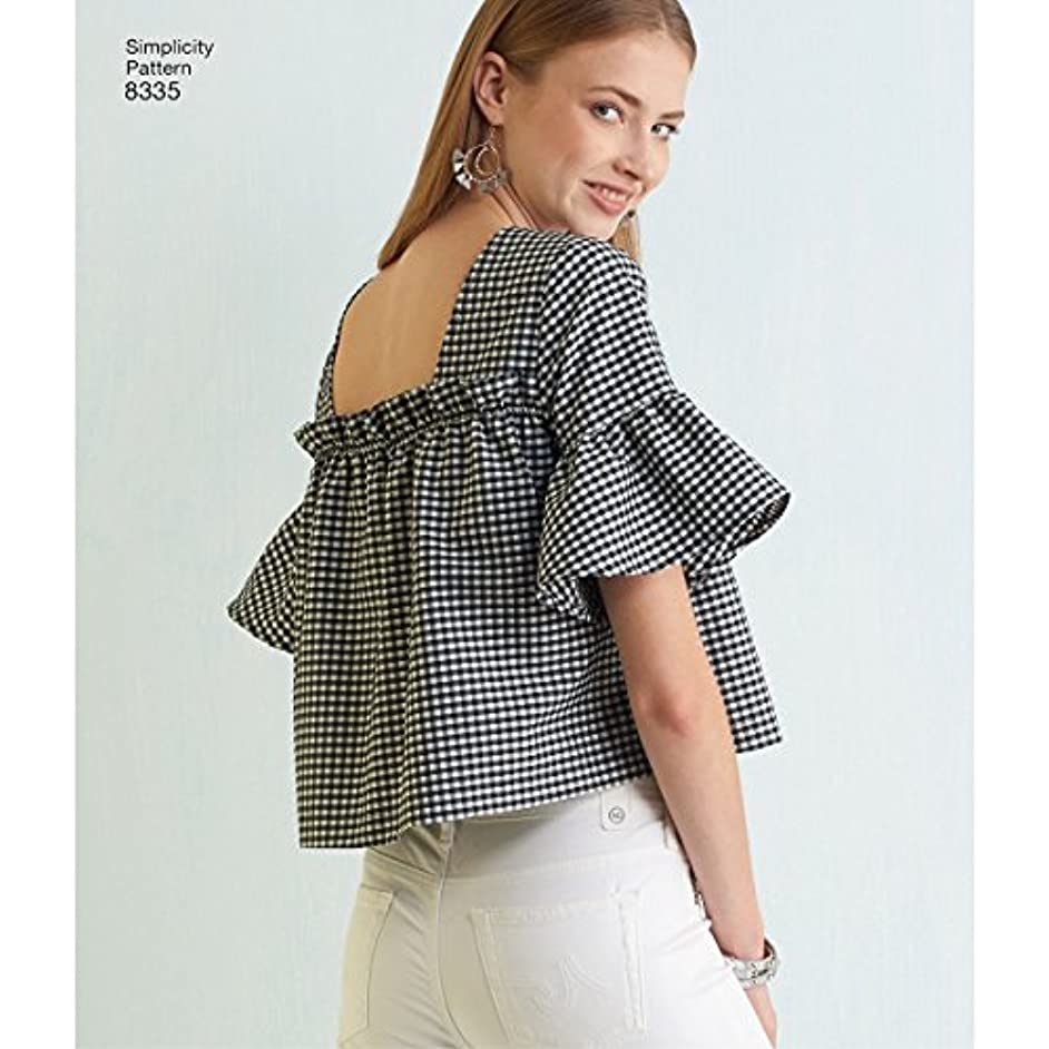 Simplicity Sewing Pattern 8335 Misses' Top with Back Variations SZ A (XXS-XS-S-M-L-XL-XXL)