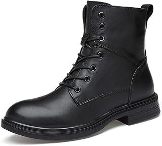 Zhulongjin Cheville hiver bottes militaires for hommes occasionnels lacets travail travail bottes de combat chaussures oxf...