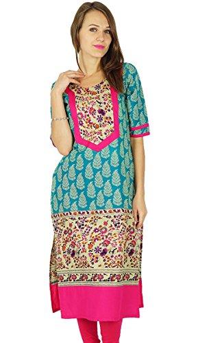 Phagun indischen Bollywood Designer Kurta Frauen Ethnische Kurti Tunika-Kleid