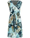Gerry Weber 380910 Vestido, Impresión Azul Marino Aqua Offwhite, 40 para Mujer