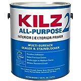 KILZ 2 多表面 汚れ防止 内外装 ラテックス プライマーシーラー 1 Gallon 20941 1