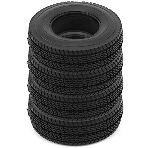 Neumático de Goma Esponjoso Integrado Neumáticos de Rueda de 25 mm Los neumáticos con Espuma mejoran la Apariencia del vehículo RC. para Tamiya 1/14 Trailer Front
