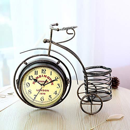 Gannon Front Dreirad Fahrrad Uhr Schmiedeeisen Uhren Vintage Kreative Schmiedeeisen Ornamente Handwerk Ornamente