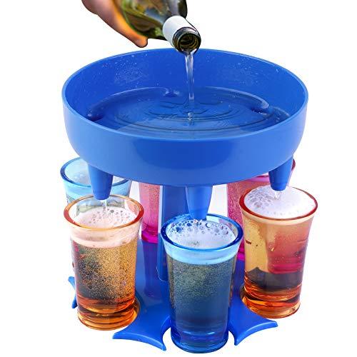 EPODA 6 Schnapsglasspender und Halter für Flüssigkeit/Cocktail/Schanps/Bier, Schnapsglas-Spender Bar Schnapsglas-Brille Hängender, Bar-Schnaps-Spender, Cocktail-Spender