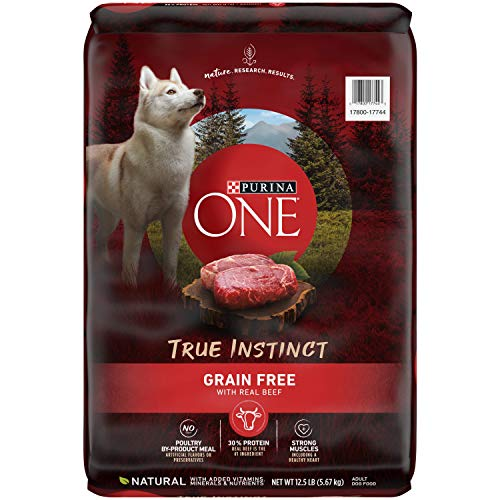 Purina ONE Grain Free Natural Dry Dog Food, SmartBlend True Instinct With Real Beef - 12.5 lb. Bag