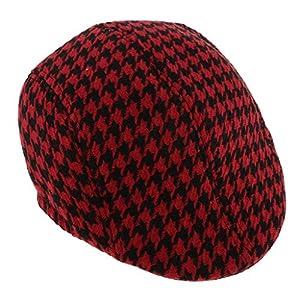 子供 キッズ ハンチング フラットキャップ 帽子 ハット ハンチング帽 ベレー帽 春 秋 冬 通気性 赤