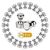 Neodym Magnete Extra Stark , synmixx 12 Stück N48 Mini Magnet für Whiteboard, Kühlschrank, Magnettafel, Pinnwand, Magnetische Push Pins, sehr Starke Kegelmagnete mit Aufbewahrungs Box (12 x 16mm)