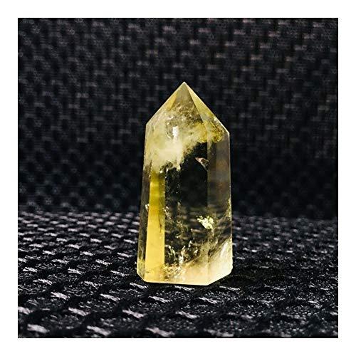 DYHM Piedras Piedra de Cristal Los Cristales de Cuarzo Citrino Natural de Cristal de Cuarzo Amarillo Punto de Reiki