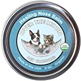 Over The Moon Pets Organic Dog Nose Balm- Unscented, Repairs Cracking, Dry Dog Noses, 2 oz. Natural Dog Sunscreen, Veterinarian Recommended