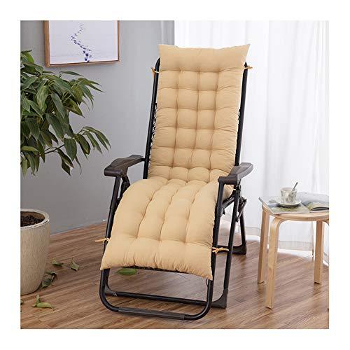 Cuscino per sedia a dondolo con lacci, cuscino in vimini, imbottitura in cotone perlato, cuscino per sedia a dondolo per divano, cuscino per finestra 48x155cm Beige