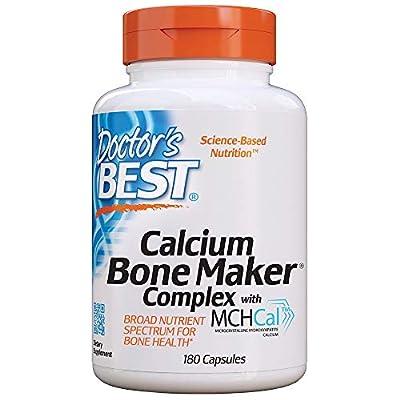Doctor's Best Calcium Bone Maker Complex with MCHCal, Supports Bone Health, Muscular, Skeletal & Vascular Health, 180 Caps