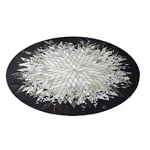 Learn More About CarPet Non-Slip Bottom Floor mat Print Geometric Pattern (Color : Black, Size : 100...