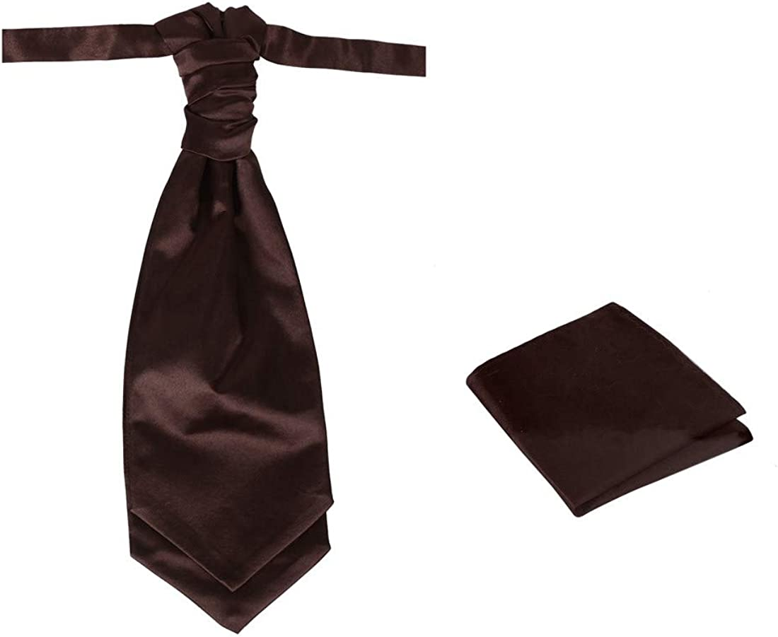 Dan Smith Men's Fashion Pre-tied Cravat, Neck Size Adjustable 20