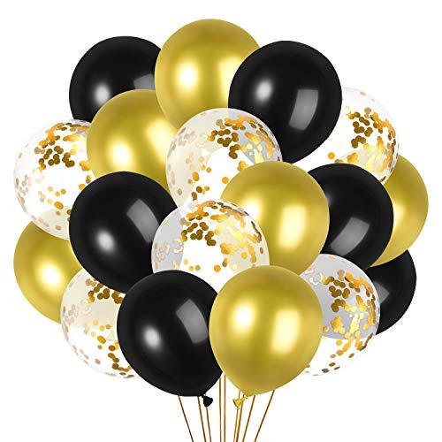 GAGAKU Bunt Luftballons für Party 60 Stück, 9 Helle Farben Mehrfarbige Ballons 30cm Helium Ballons Latex Geburtstag Hochzeit Dekorationen