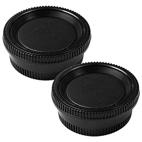 Fotover Juego de tapa y tapa trasera de lente para todas las cámaras Nikon DSLR D850 D810 D750 D7200 D610 D7100 D5300 D7000 D800 D5 D7500, 2 juegos
