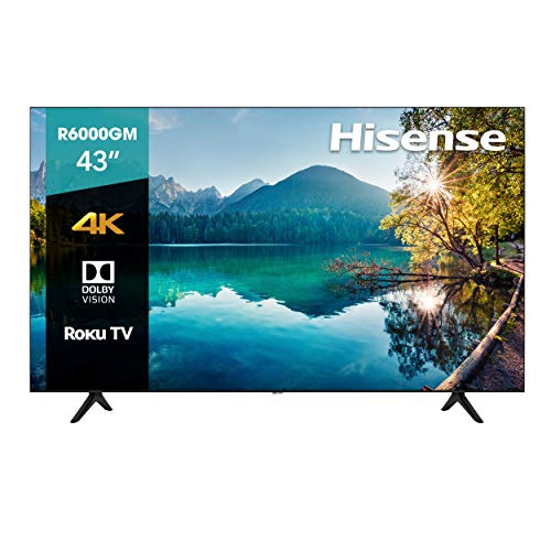 Hisense 43R6000GM Serie R6 43' 4K Uhd, Smart TV, Roku TV, Hdr10, Roku Search, (2020) (43') (43')