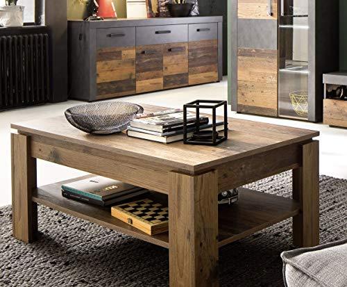 trendteam smart living Wohnzimmer Couchtisch Tisch Wohnzimmertisch Indy, 110 x 47 x 65 cm in Old Wood NB mit viel Stauraum