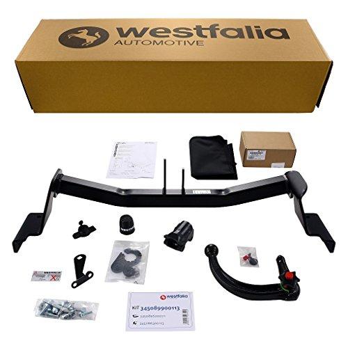 Westfalia Abnehmbare Anhängerkupplung - AHK für Kia Cee'd sw/Sportswagon (BJ 10/2012 - 03/2018) - Im Set mit 13-poligem fahrzeugspezifischem Elektrosatz