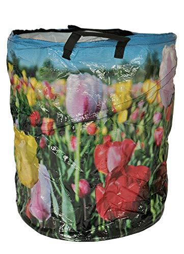 HTI-Line Garten Abfallsack Pop up Laubsack Rasensack Behälter Flower